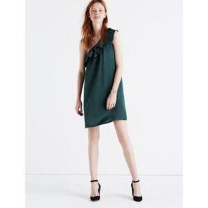 Madewell One Shoulder Silk Dancefloor Dress 6